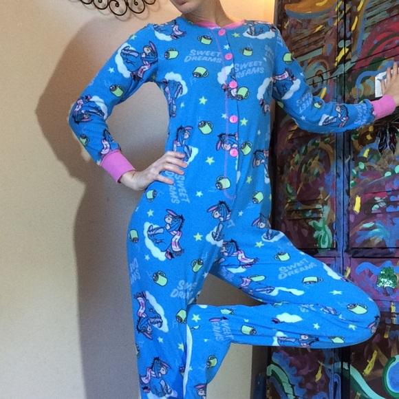Disney Other - Eeyore Coffee Mug Onesie Pajamas PJ's Disney